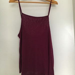Maroon Free People Tank